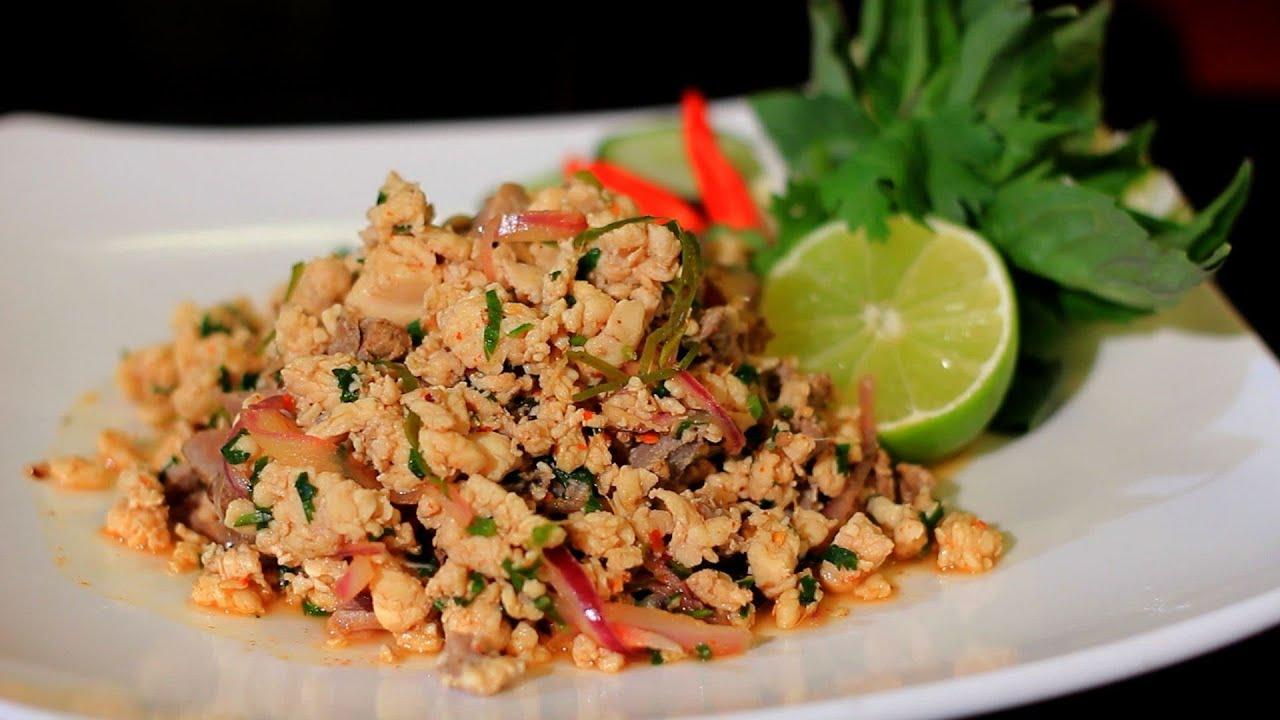 Thai Restaurant Week 2013 - Larb Gai - Herbal Thai - YouTube