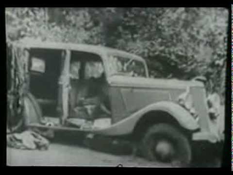 Bonnie and Clyde death scene, 1934. - YouTube