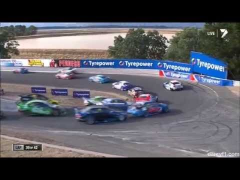 van Gisbergen and Reynolds Wreck @ 2014 V8 Supercars Tasmania Race 2