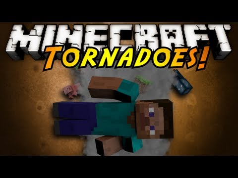 Minecraft Mod Showcase : TORNADOES!, DEAR GOD! SO MUCH DESTRUCTION! THE WHIRLING DESTRUCTION KNOWN AS TORNADOES ARE NOW IN MINECRAFT! Also some other cool items too! Download the mod here! http:...