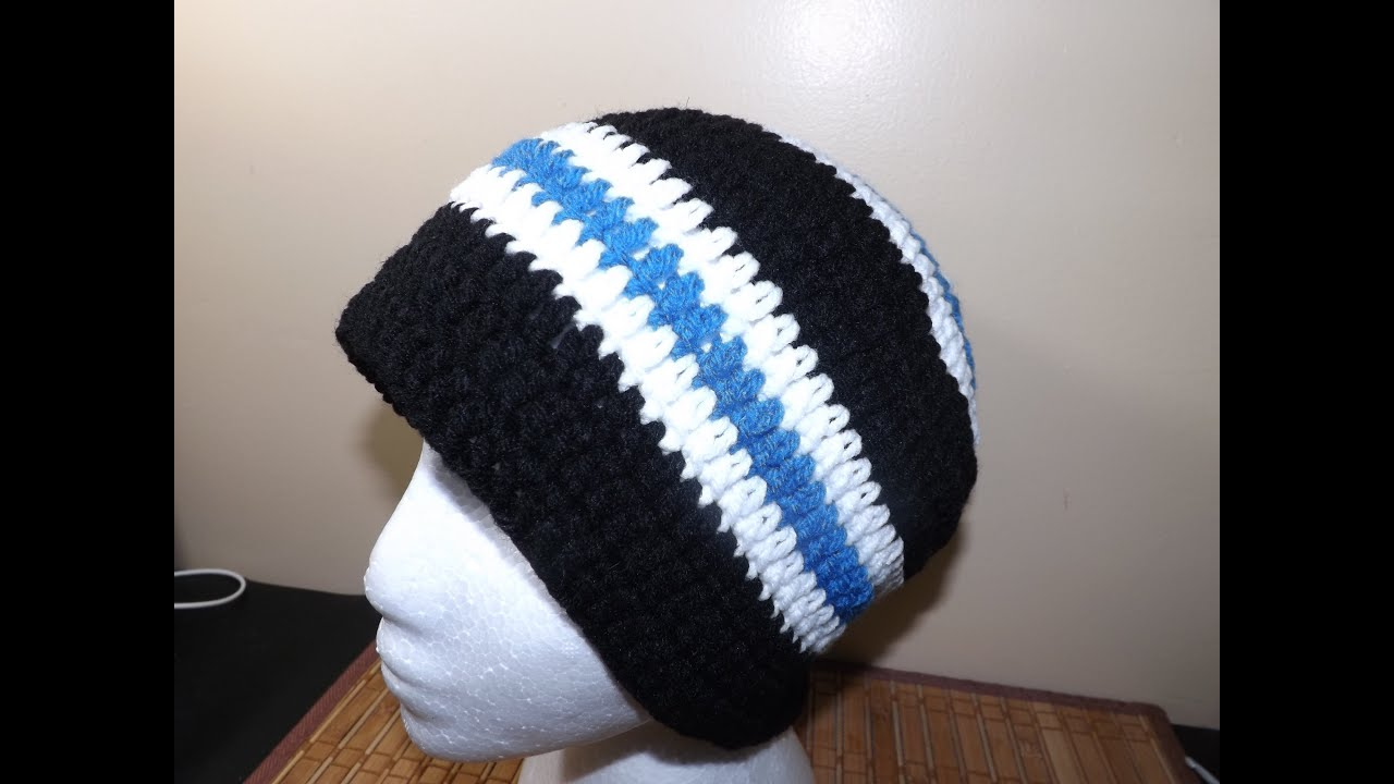 Crochet a Mens Hat - YouTube