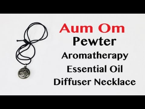 😍  AUM OM Pewter Essential Oil Diffuser  Locket  Necklace - Review ✅