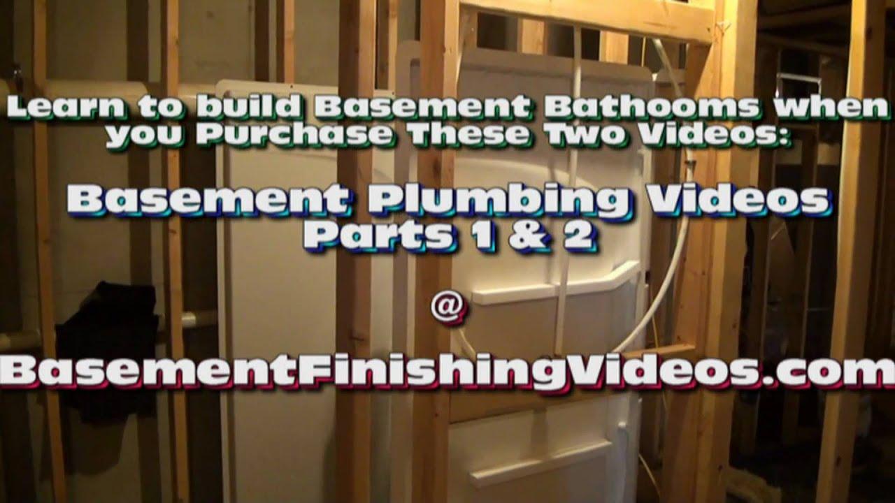 how to frame and plumb a basement bathroom youtube