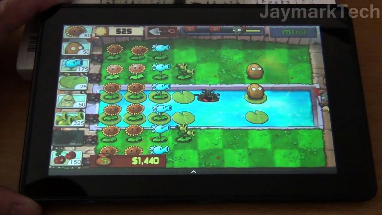 Amazon kindle fire gaming more plants vs zombies youtube