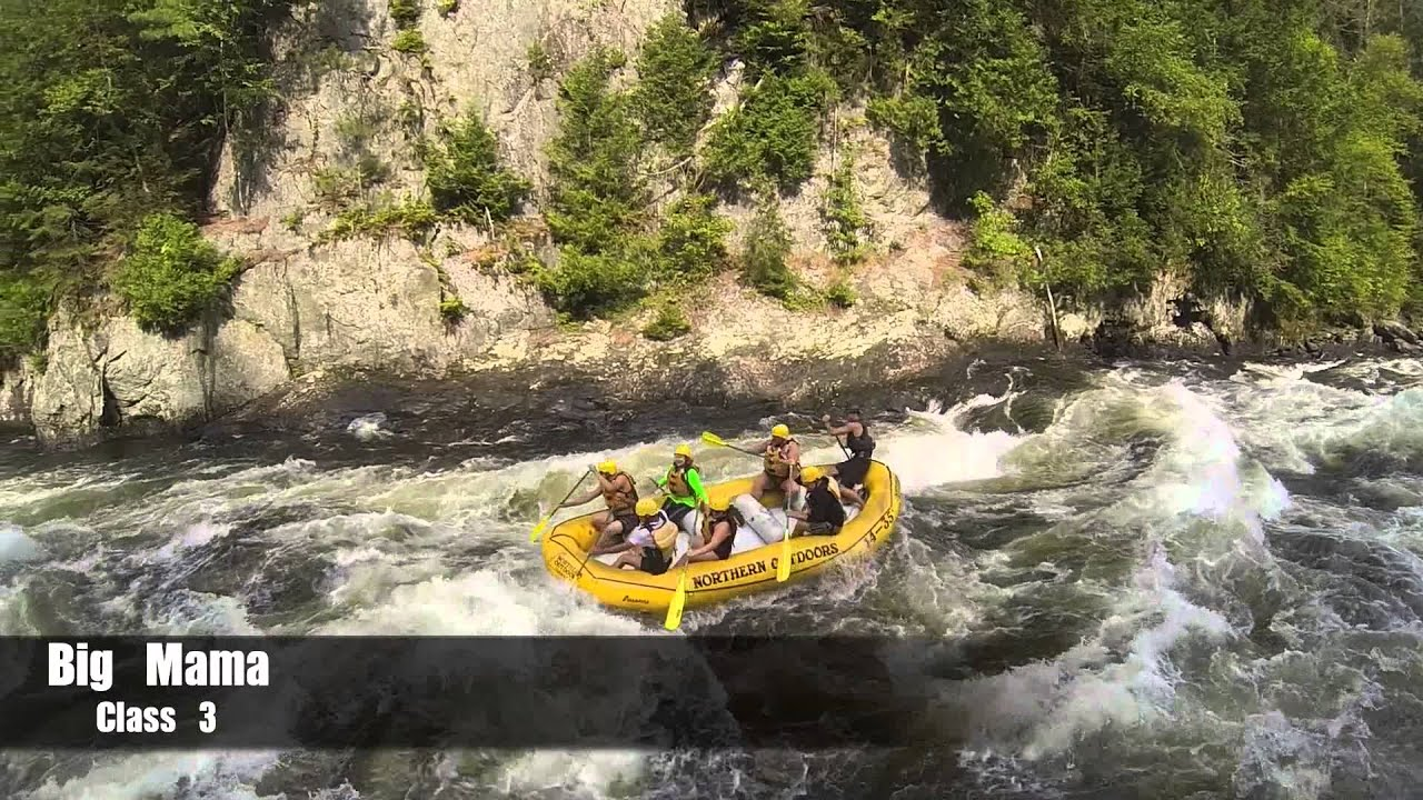 aerial views of kennebec river rafting northern outdoors