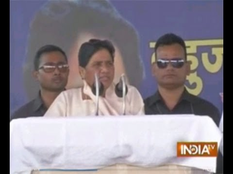 Mayawati addressing rally at Chandigarh