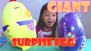 GIANT Surprise Egg: Adventure Time, Pokemon, Hello Kitty