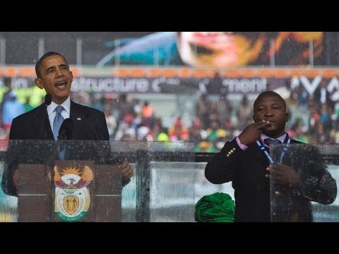 Fake Deaf Interpreter At Mandela Ceremony -Review