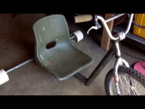 Home made Motorized drift trike 3HP part 1
