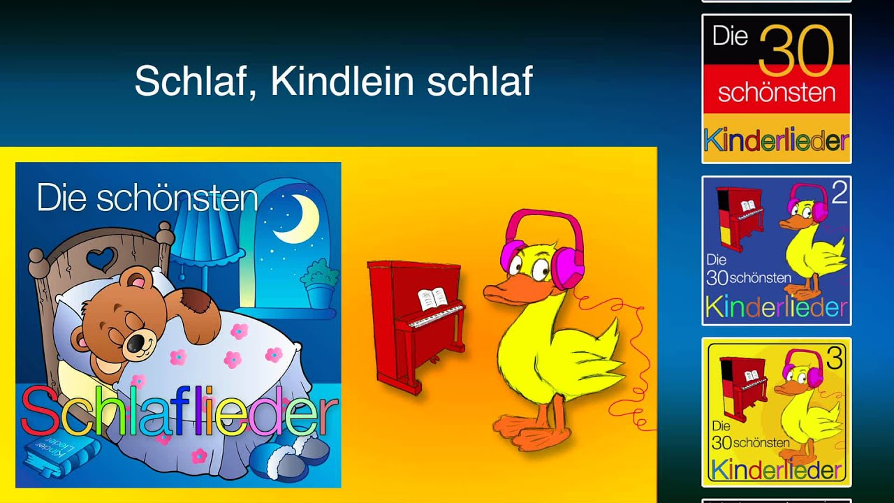 schlaf kindlein schlaf kinder lieder youtube. Black Bedroom Furniture Sets. Home Design Ideas