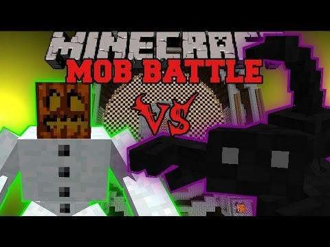 MUTANT SNOW GOLEM VS KING SCORPION - Minecraft Mob Battles - Bosscraft