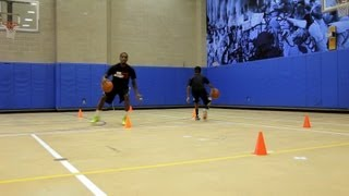 How To Do A Between-the-Legs Dribble Basketball Moves