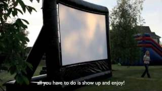 Outdoor Movie, Theatre In Buffalo, Inflatable Outside