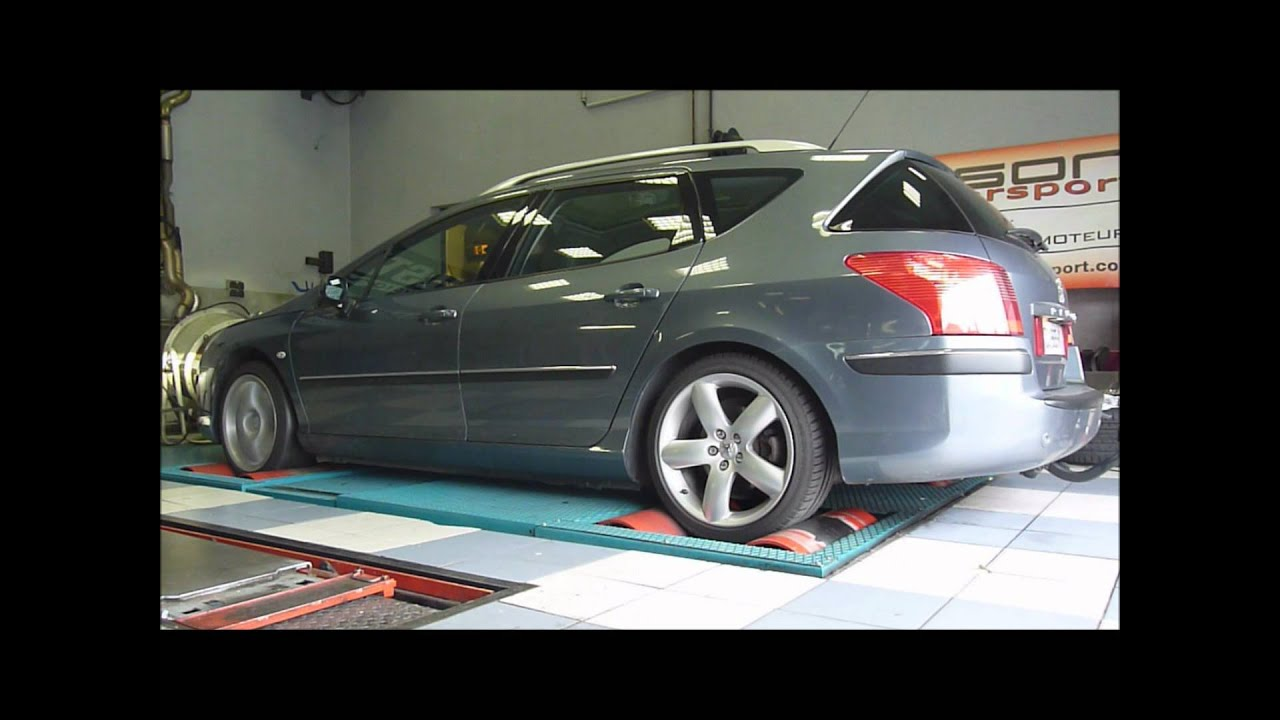 reprogrammation moteur peugeot 407 sw 2 2 hdi 170 youtube. Black Bedroom Furniture Sets. Home Design Ideas