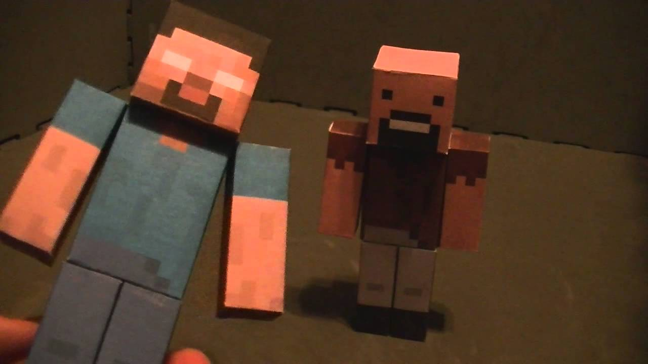 Viewing Gallery For - Minecraft Papercraft Herobrine With Armor