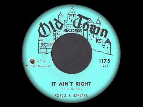 Thumbnail of video Rosco & Barbara - It Ain't Right