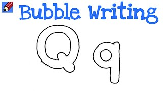 Q Bubble Letter comments on How to Draw Bubble Writing Real Easy - Letter Q - YouTube