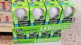 Dollar Tree $1 Greenlite LED Bulb 9w (60w) Review and teardown