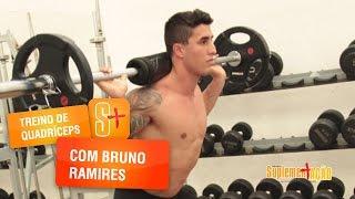 Treino de quadríceps com o atleta Bruno Ramires