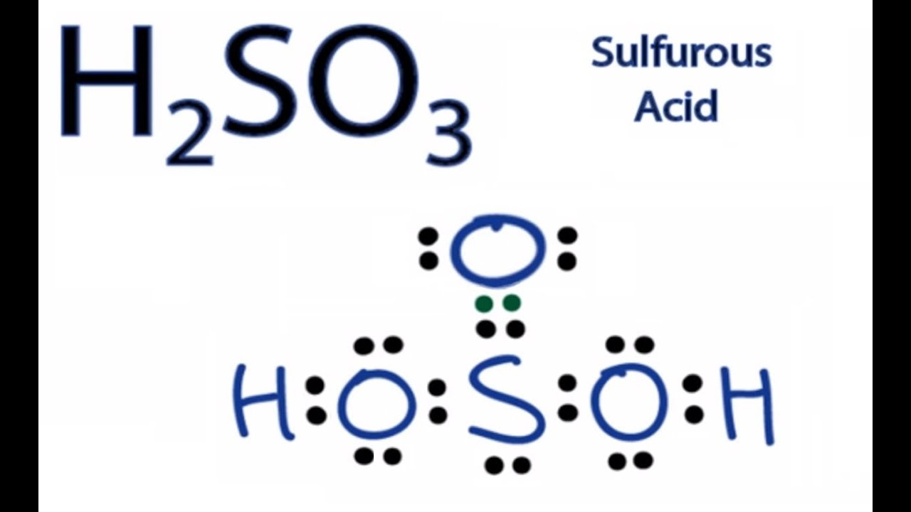 H2so3 Lewis Structure  How To Draw The Lewis Structure For