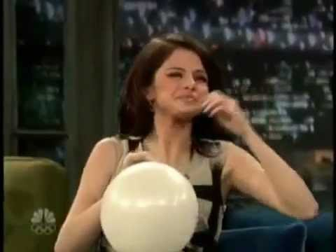 Selena Gomez on Helium (Late Night with Jimmy Fallon)