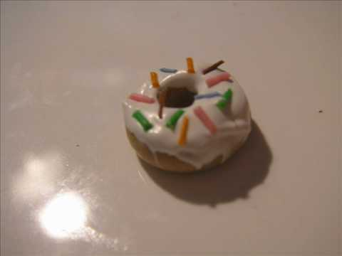 Donuts how to make from polymer clay miniature
