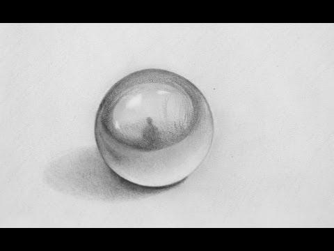 Fantastic Pencil 3D Illusion - Drawing a Sphere - 3D Art