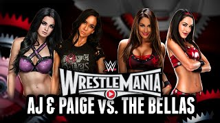 WWE 2K15 - Wrestlemania 31: AJ & Paige vs. Nikki & Brie Bella (WWE 2K15 Match Simulation)