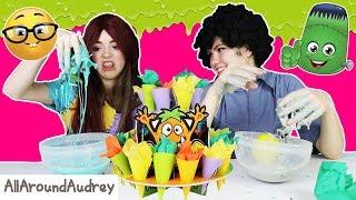 Monster JUNK SLIME! Making DIY Slime with YUCKY Items! / AllAroundAudrey