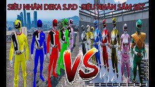Cuộc chiến giữa 5 Anh Em Siêu Nhân DEKA S.P.D vs Siêu nhân Sấm Sét - GTA 5