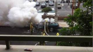 Car Explosion in Los Angeles 08.19.2011