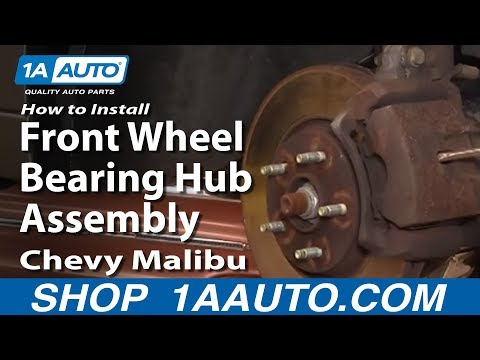 How to Install Replace Front Wheel Bearing Hub Assembly Chevy Malibu 04-10 1AAuto.com