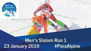 Men's Slalom Run 1 | 2019 World Para Alpine Skiing World Championships