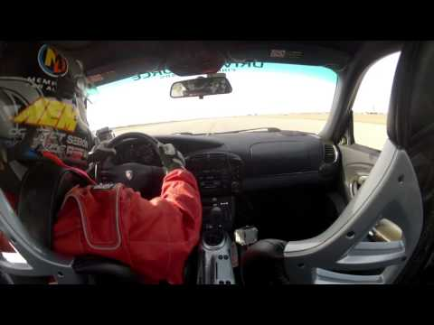 TEXAS MILE: 225mph Porsche 996TT Roll bar cam. BlackHorseTurbo