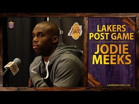 Lakers vs. Thunder: Jodie Meeks After His Career-High 42 Point Game, Kobe's Mental Approach