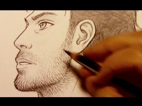 how to draw facial hair razor stubble youtube