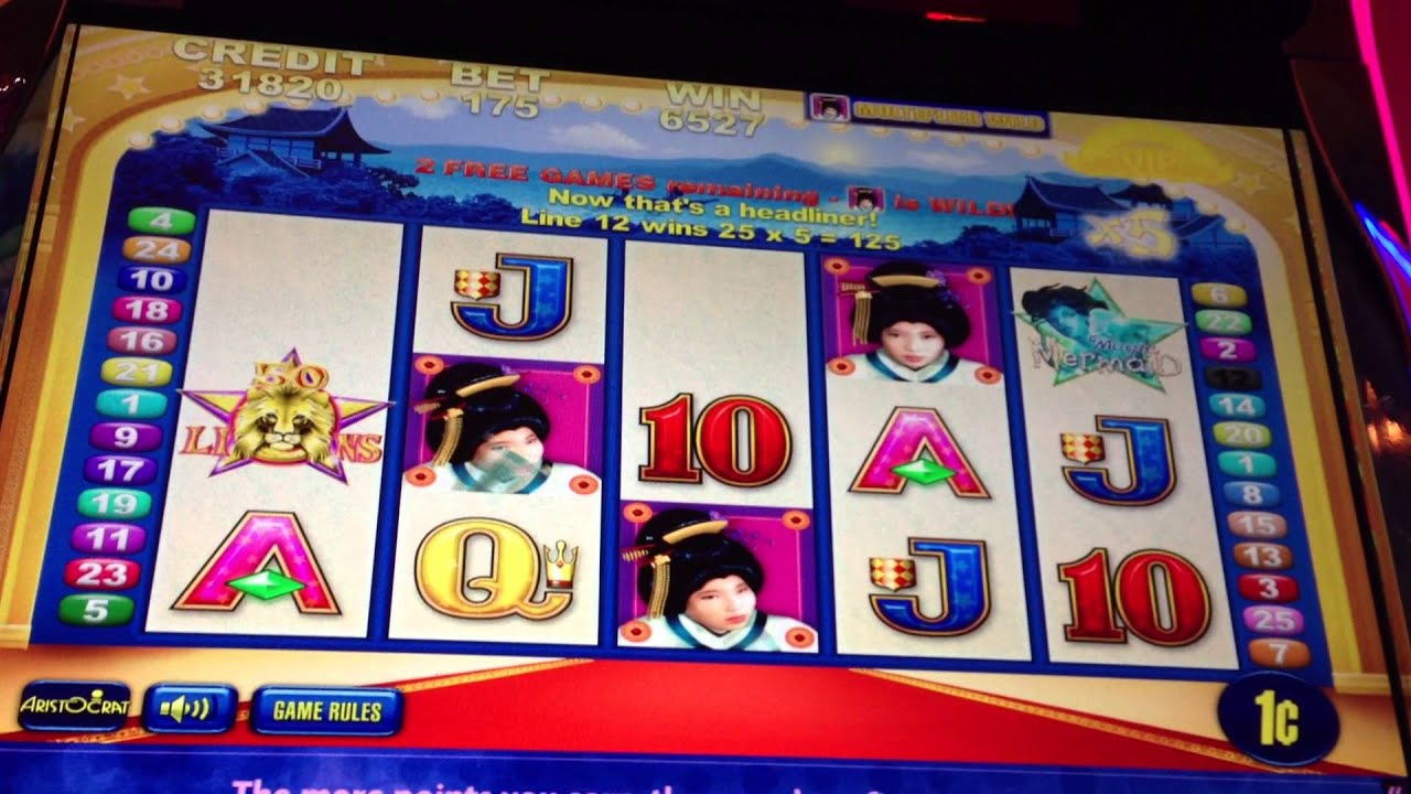 geisha slot machine aristocrat