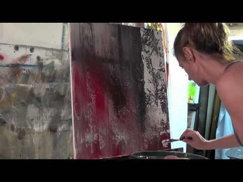 Abstract Art Painting Demo - Original by Shari Kreller -