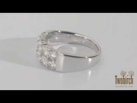 Gorgeous wedding band with pave stones, perfect for any occasion. By TwoBirch Sku # TB-WEDD-0091