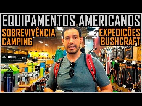 Equipamentos  Americanos para Expedições, Camping e Sobrevivência  (Loja REI)