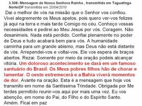 NOSSA SENHORA RAINHA DA PAZ,MENSAGEM,PEDRO REGIS,BA,BRASIL.AVI