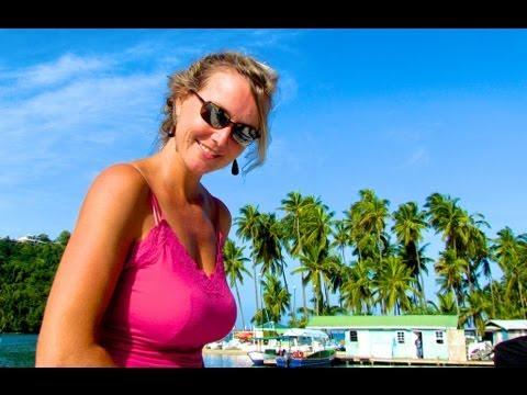 Sailing into Marigot Bay, St Lucia, Caribbean