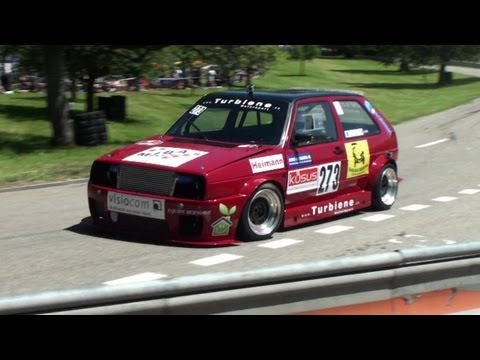 The best VW at Hillclimb Reitnau - nice Sounds of Golf GTI MK1 Scirocco Polo Volkswagen and  Audi 50