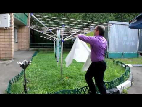 Как сделать сушилку для белья во дворе 117