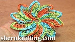 Spiral Flower Crochet Step-by-Step Tutorial 55 Crochet