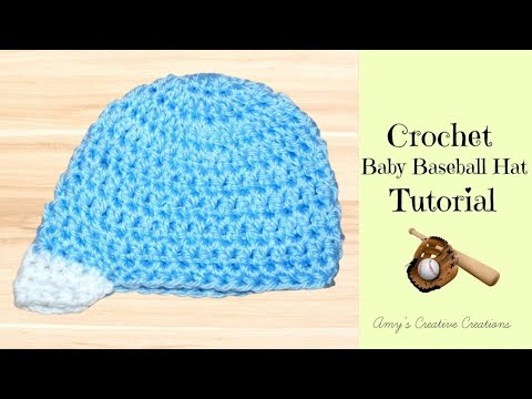 Crochet Baby Baseball Hat Tutorial