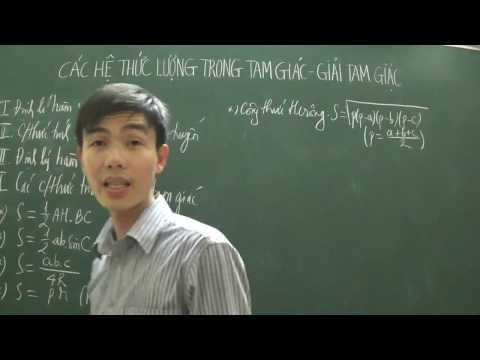 [Toán 10] - Các công thức tính diện tích tam giác (Bài: Hệ thức lượng trong tam giác)