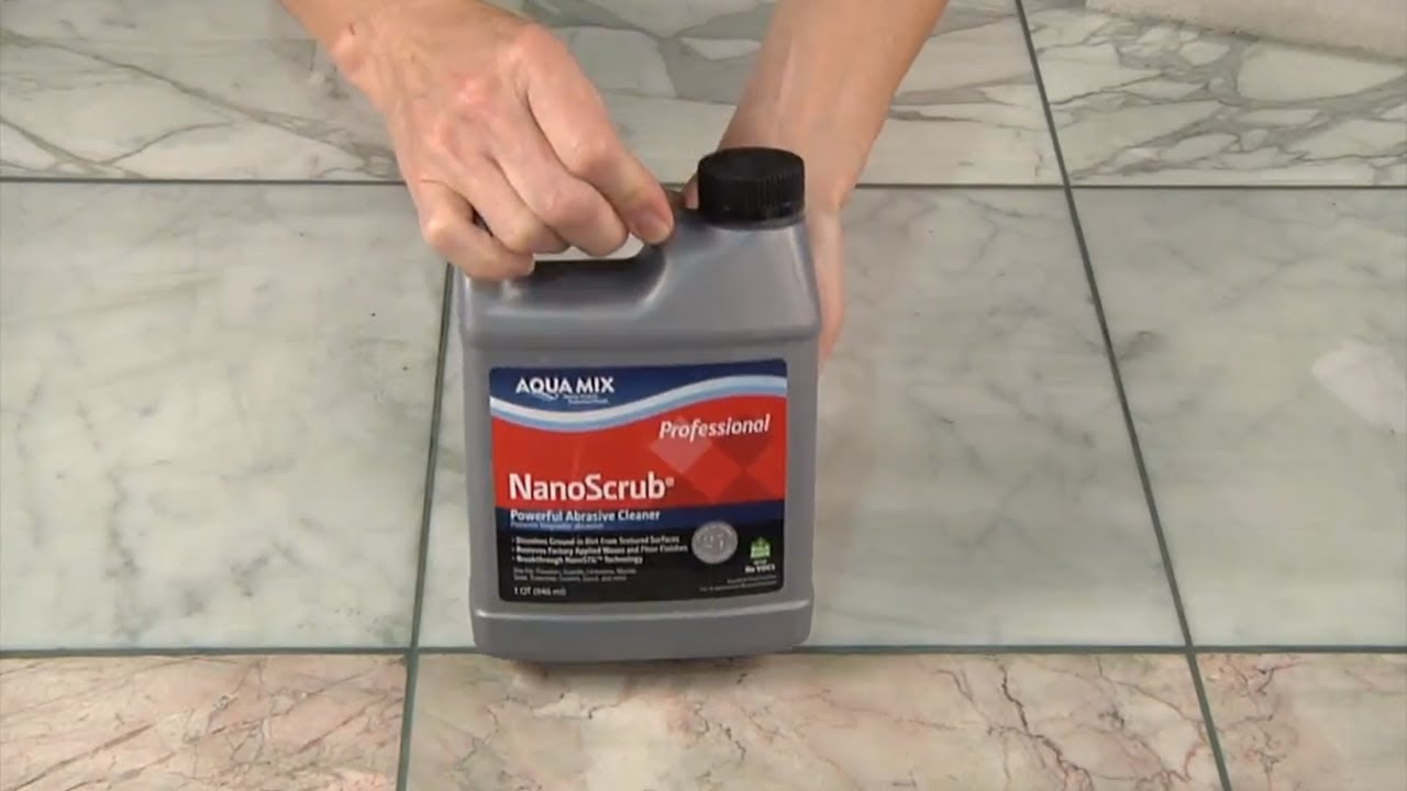 remove grout haze from polished marble with aqua mix nanoscrub youtube. Black Bedroom Furniture Sets. Home Design Ideas