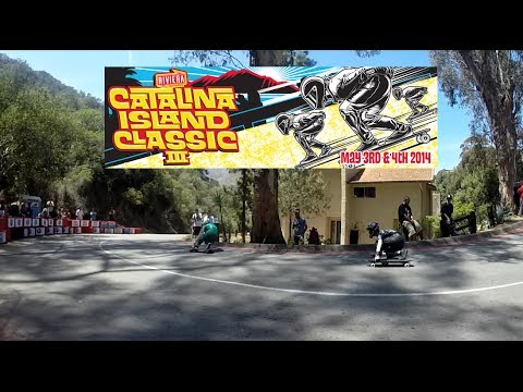 2014 Catalina Island Classic Downhill Skateboard Race (Catalina Viral Video)