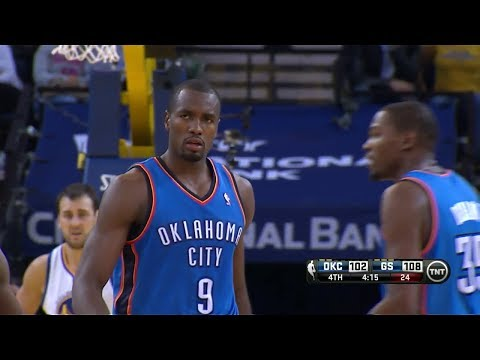Serge Ibaka Full Highlights at Warriors (2013.11.14) - 27 Points, 13 Rebounds 3 Blocks